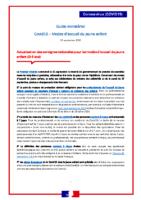 Covid19 – Guide ministériel- Accueil 0-3ans – 25/09/20